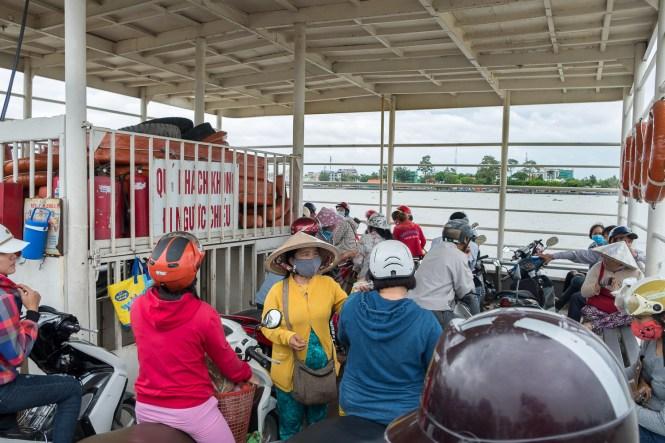 ferry île d'An Binh delta du mékong vietnam