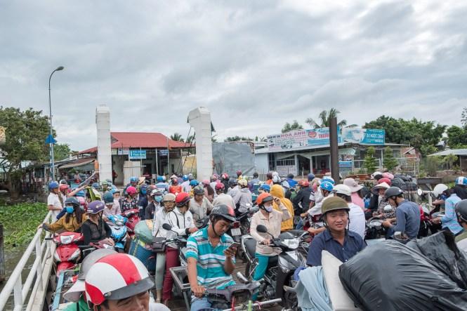 personne ferry île d'An Binh delta du mékong vietnam