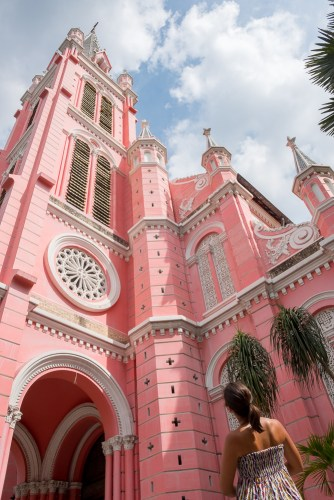 Église rose Tan Dinh visiter ho chi minh ville