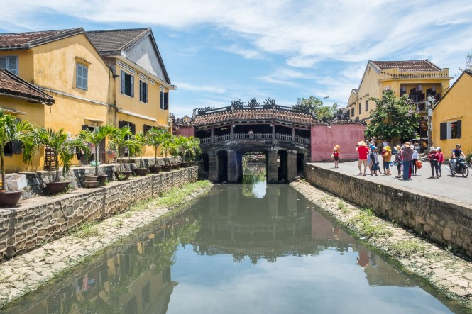 Pont japonais couvert ou Chua Cau VISTER Hoi An vietnam