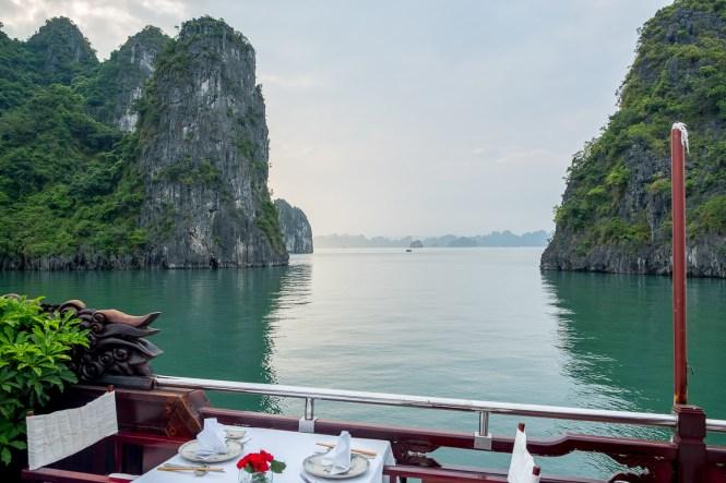 Coucher du soleil Dragon's Pearl Junk bai tu long vietnam