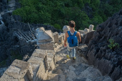 escalier Mua Caves baie d'halong terrestre tam coc
