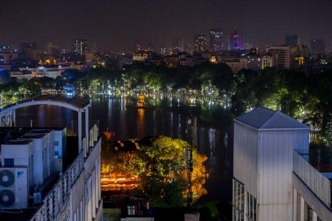 vue lac huan kiem Skyline Bar visiter hanoi