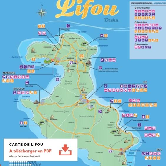 Télécharger la Carte PDF de Lifou
