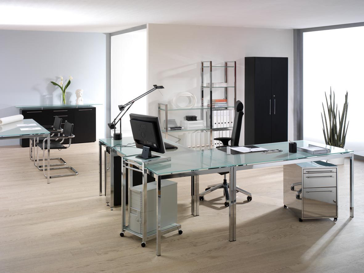 Buromobel Glas Burotheke Und Burotresen Kaufen Buerohaus Online De