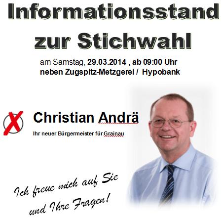 Infostand am 29.03.2014