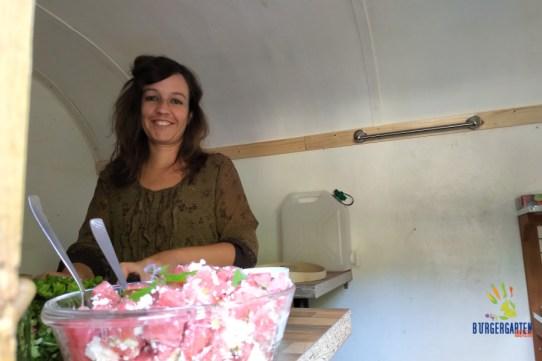 Mareike an Schafskäse-Melonensalat, sozusagen