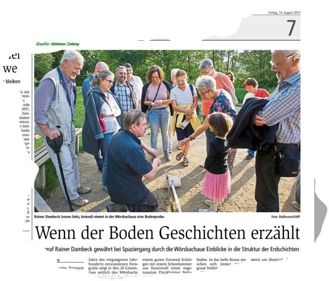 Ausriß Bericht Idsteiner Zeitung vom 17. August 2019, online u.a. unter https://www.wiesbadener-kurier.de/lokales/untertaunus/idstein/wenn-der-boden-geschichten-erzahlt_20359000