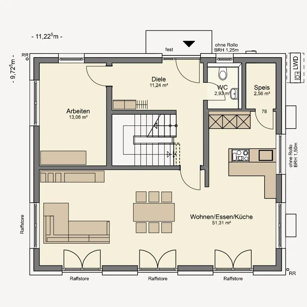 Grundriss Einfamilienhaus Ohne Keller Grundriss Doppelhaus