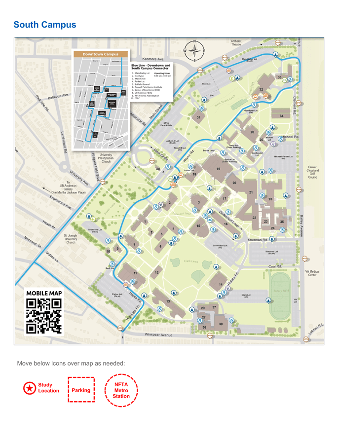 Ub South Campus Map : south, campus, Research, Study, Flyer, Templates, Identity, Brand, University, Buffalo
