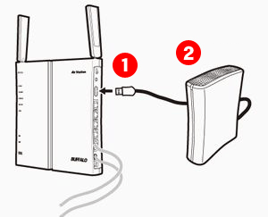 How to: Connect USB hard drive to wireless router to share