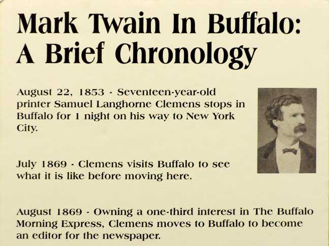 Mark Twain in Buffalo