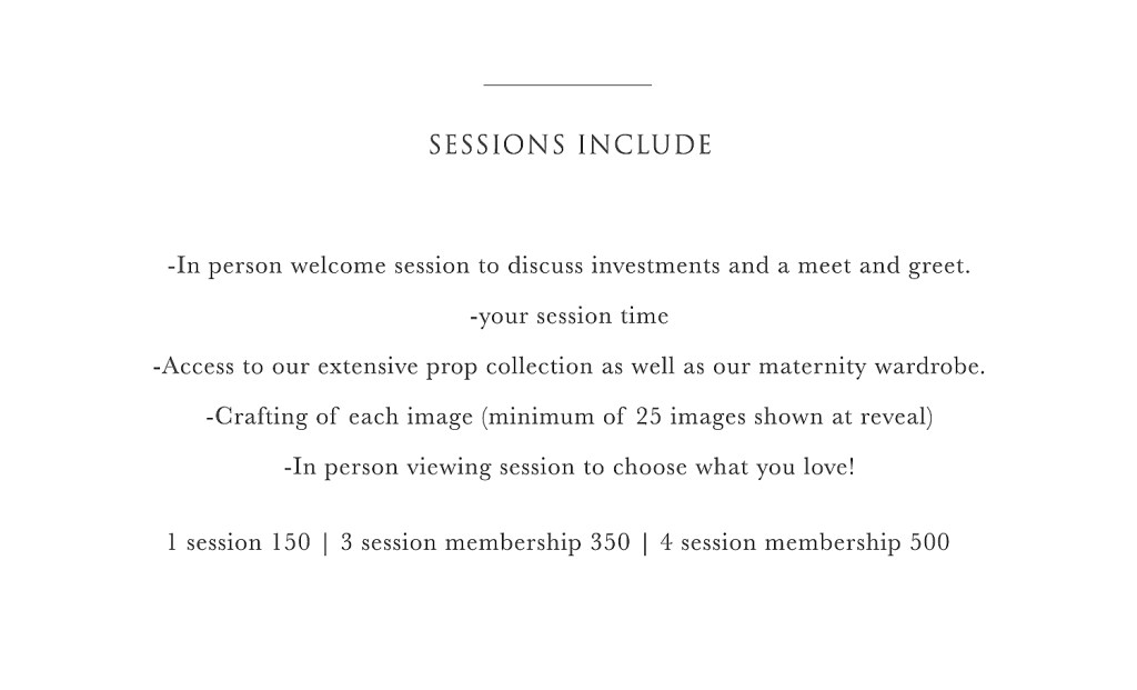 Session includes 1