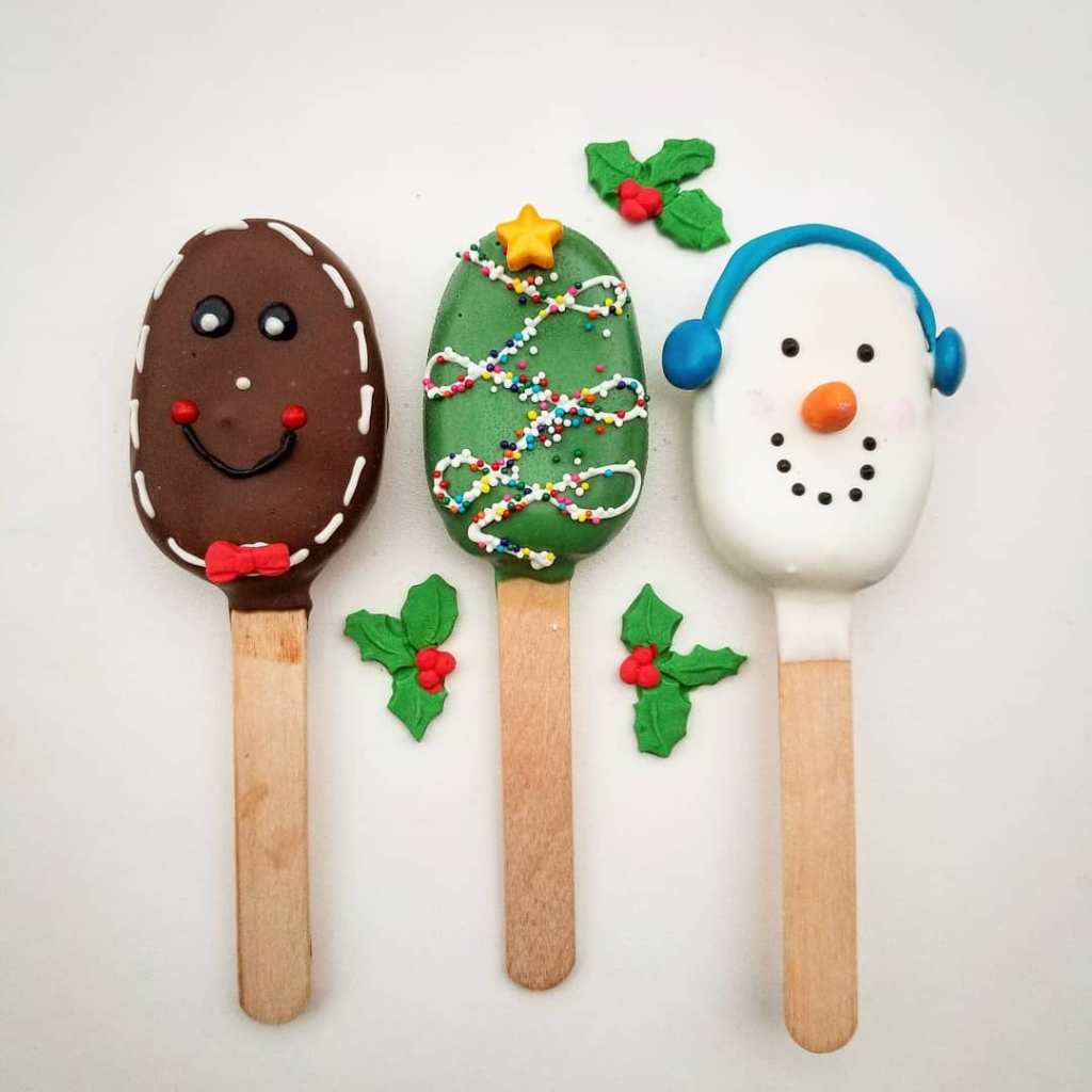 Christmas Themed Cakesicles.Holiday Pre Orders Buffalo Cake Pops