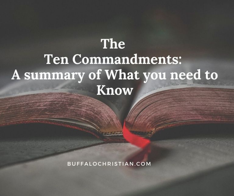 Ten Commandments summary of what to know
