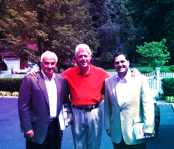 Government affairs professional Steve Pigeon with former President Bill Clinton and Tom Golisano, at Clinton's home in Chappaqua, NY.
