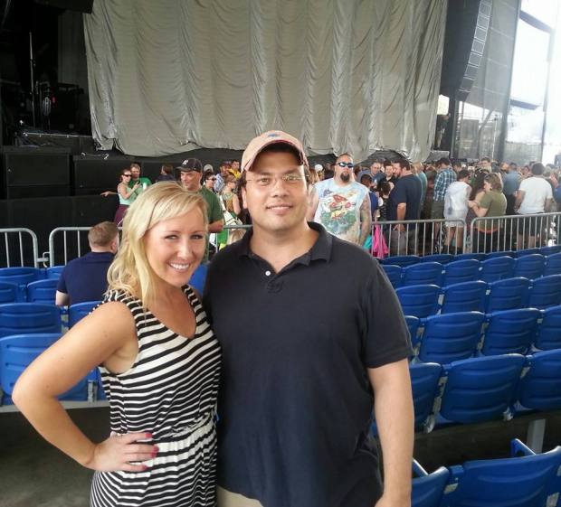 """Mychajliw with, who he calls, his """"Ukie friend"""" at a Dave Matthews concert at Darien Lake."""
