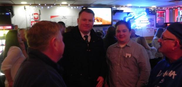County Legislator Patrick Burke with supporters.