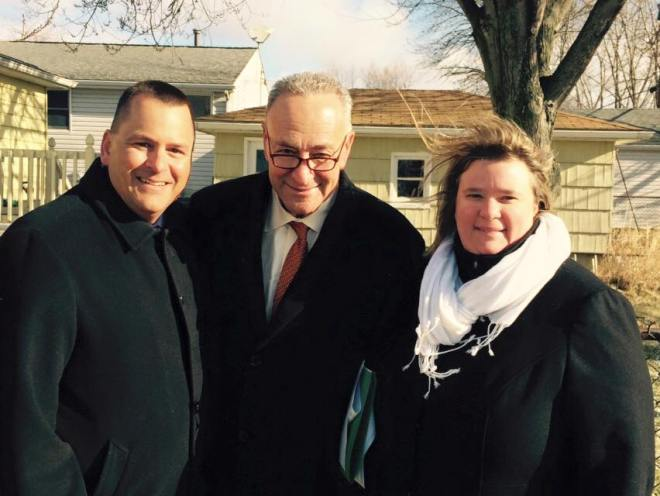 Koch with United States Senator Charles Schumer, presumed to be the next Senate Majority Leader.