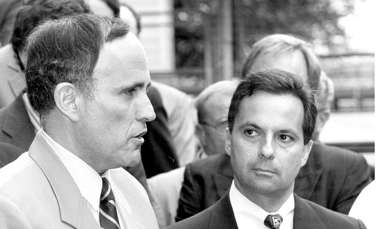 Attorney General Dennis Vacco with Mayor Rudy Giuliani.