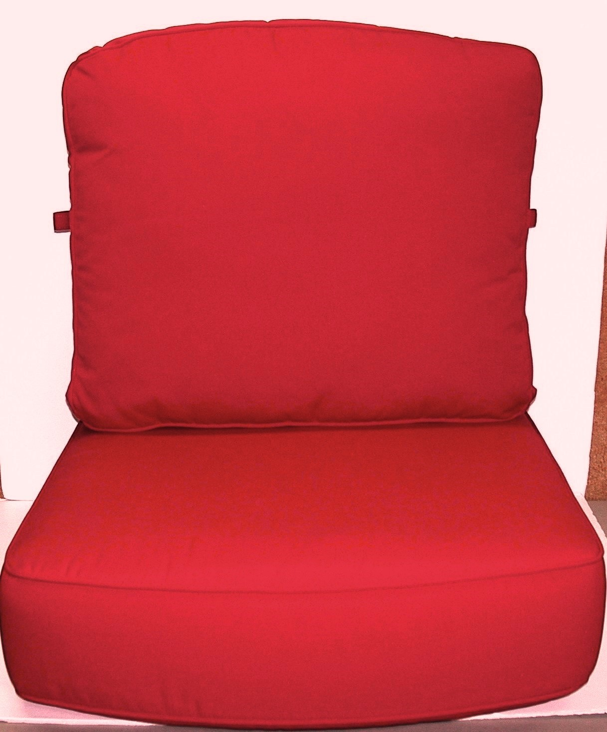 24x24 Outdoor Chair Cushions 2 Pc Outdoor Deep Seat Set Red Sunbrella 26 X 20 X 4