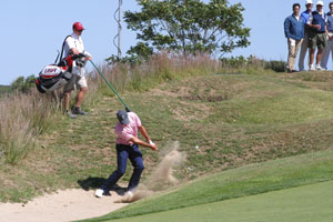 Out of one of ten, left-side bunkers