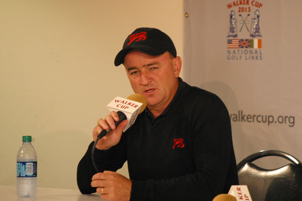 Captain Edwards addresses the media