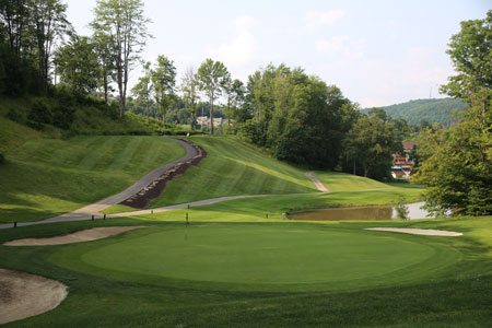 A Look From Behind The 10th, Across The Green, Toward The Elevated Tee Deck
