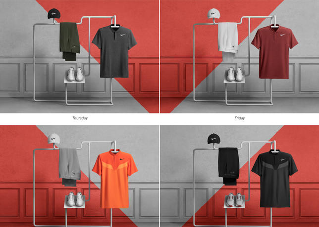 787fa7757ef75 RORY MCILROY. McIlroy tournament look consists of daily colorways of the Nike  Classic 99 hat ...
