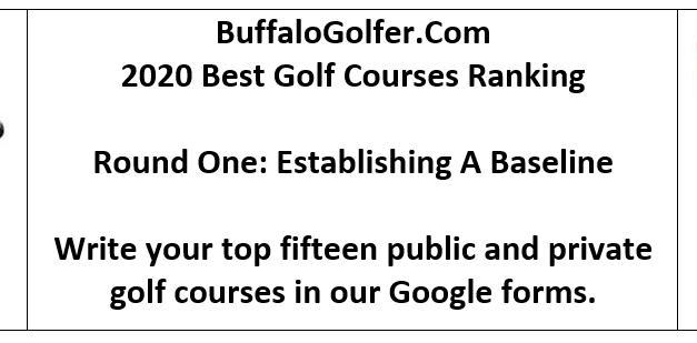 BuffaloGolfer's Best Courses 2020 Rankings