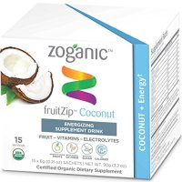 Zoganic Fruitzip Herbal Coconut Supplement Drink Mix