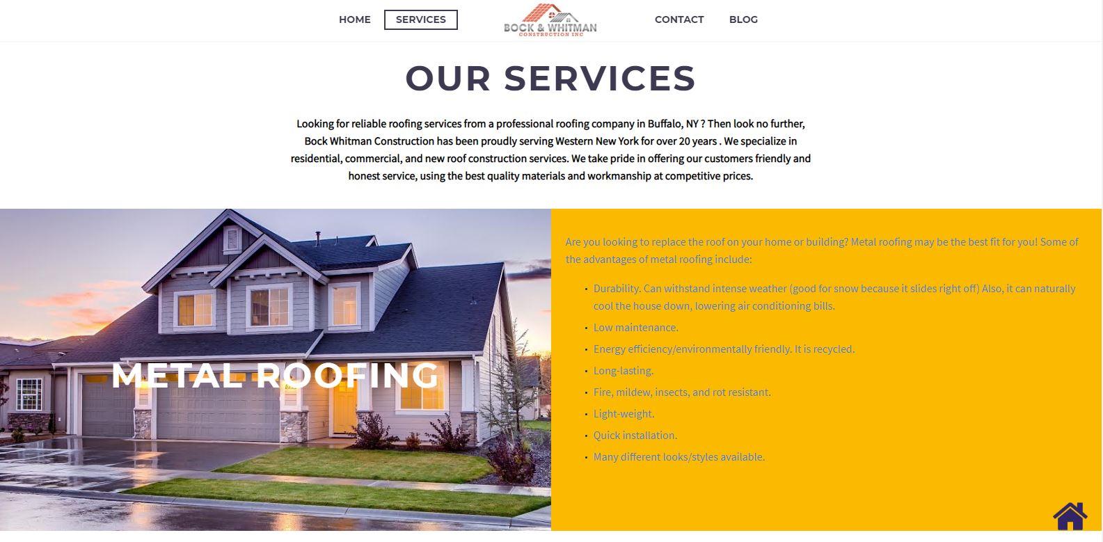 Buffalo Website Builder Bock And Whitman Portfolio