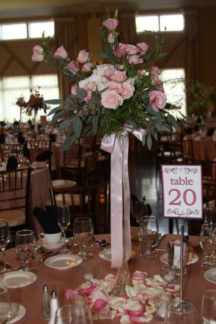 Avanti Mansion Wedding Reception Flowers Hamburg, NY