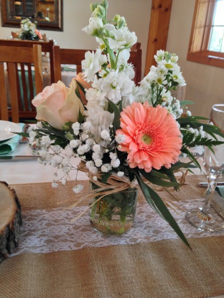 Flowers by Lipinoga Florist of Clarence NY for Wedding at Timberlodge in Akron NY (32)