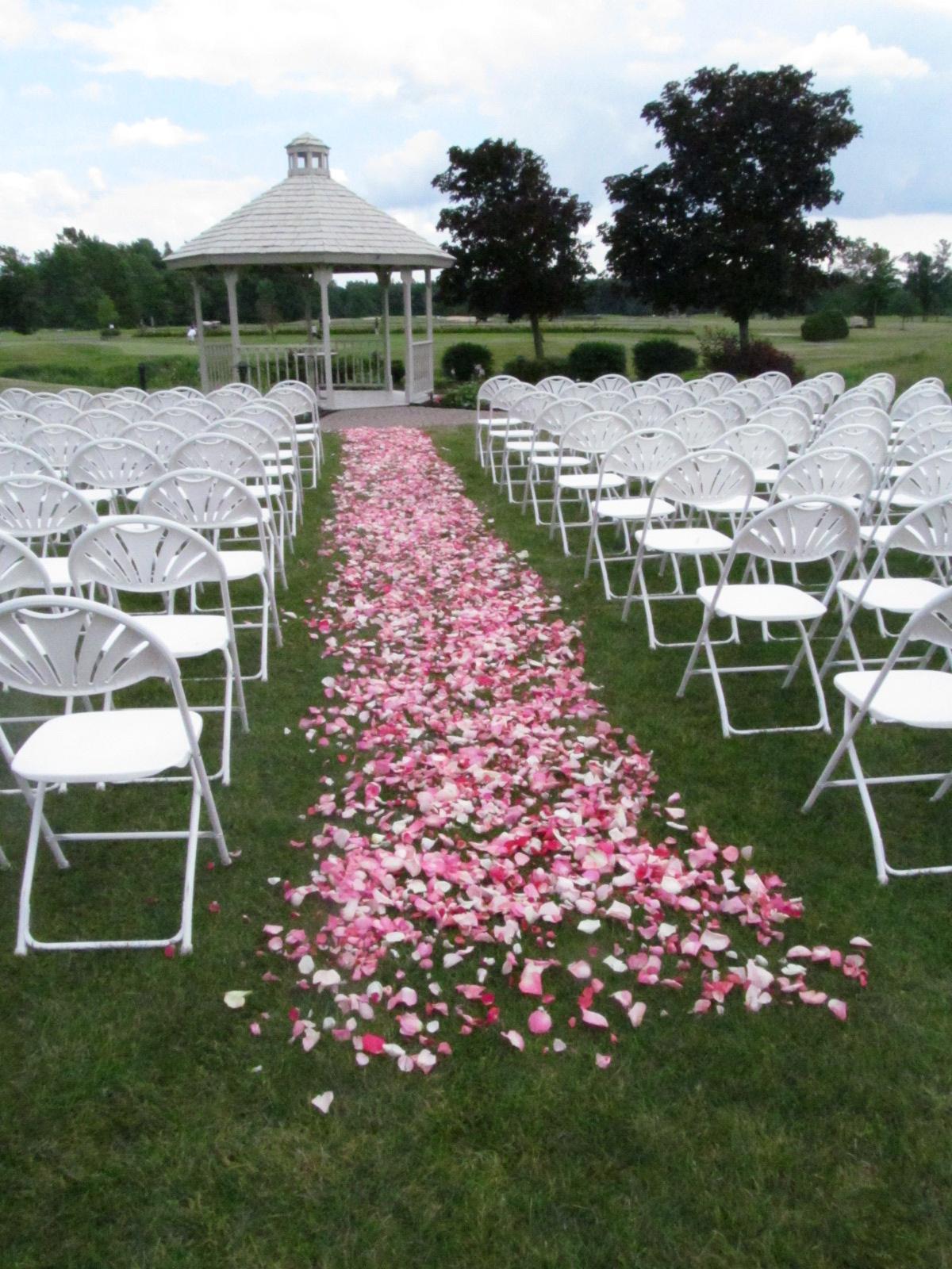 Rose Petal Aisle  Buffalo Wedding  Event Flowers by