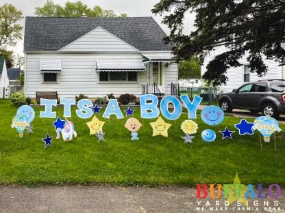 Baby Shower Lawn Sign Buffalo New York