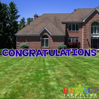 Congratulations Yard Sign in blue