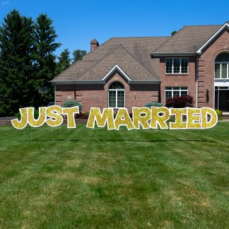Just Married Lawn Sign