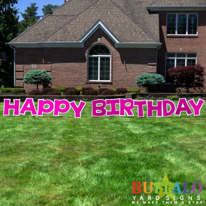 Mini Happy Birthday Yard Sign
