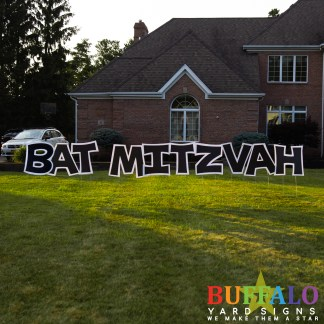 Bat Mitzvah yard sign product shot