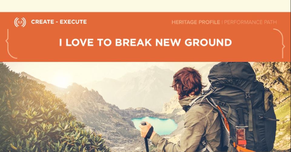 break-new-ground
