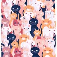 """""""International Cat Day III"""" by Dayi Tofu Print ava…"""