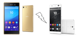xperia m5 gold and xperia c5 ultra