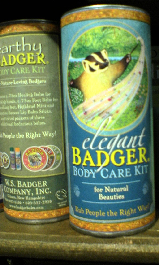 """Saw this at Cracker Barrel... what's this about?  And why do """"natural beauties"""" need badger body care?"""