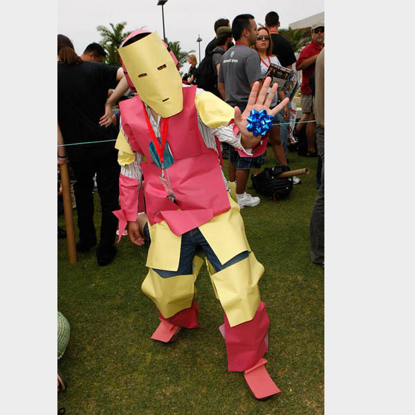 costume - Iron Man downgraded to Paper Man