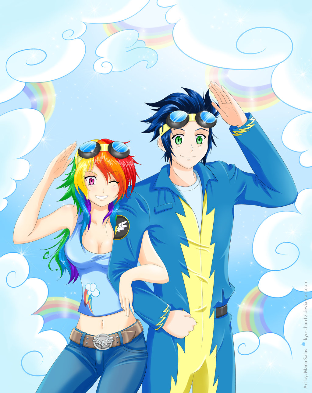 Hilarious Question If Rainbow Dash And Soarin Human