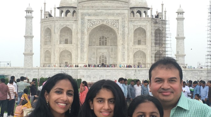Sujata and Family at the Golden Triangle, India
