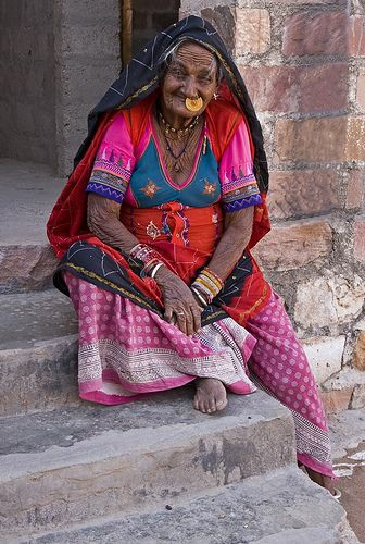old tribal lady