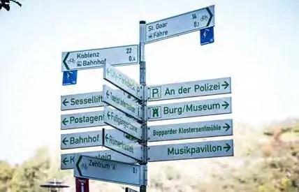 Wegeleitsystem in Boppard. (Foto: Piel media)