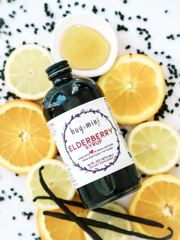 Organic Elderberry Syrup 16 oz Bottle